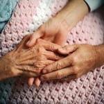 Senior hand